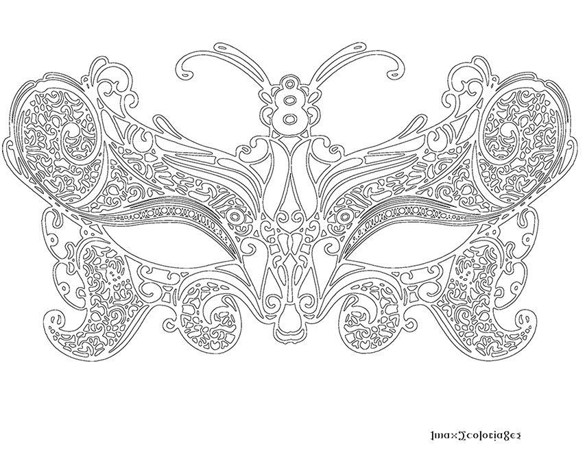 Coloriage masque v nitien grande image carnaval de venise pinterest coloriage masque - Masque de carnaval de venise a imprimer ...