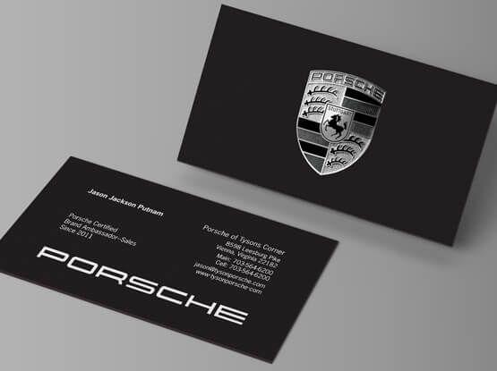 Carte De Visite Porsche Reward Business Card Design Cards Visit