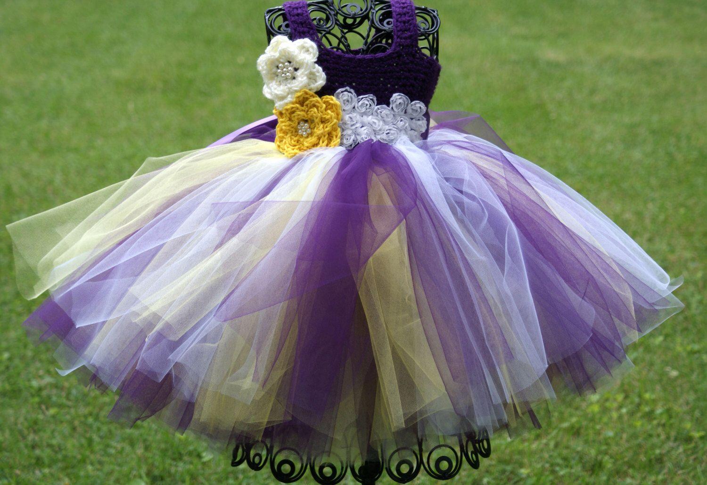 Purple Yellow White Baby Toddler Tutu Dress Childs Tutu Dress Flower Girl Tutu Dress C Yellow Flower Girl Dresses Flower Girl Dresses Tutu Purple Flower Girls [ 1029 x 1500 Pixel ]