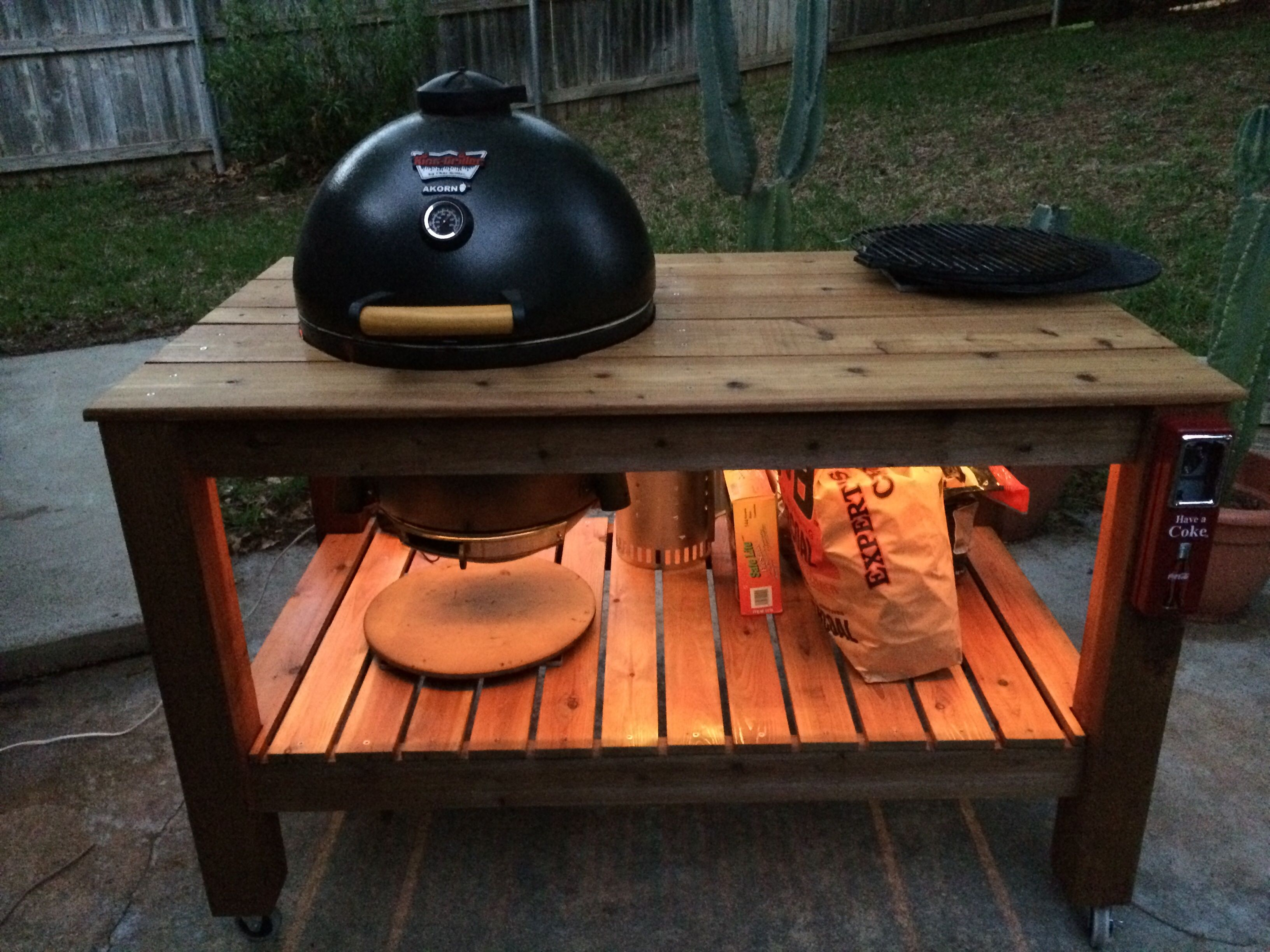Page 1 Of 2   Cedar Akorn Table Complete!   Posted In Do It · Akorn  GrillKamado ...