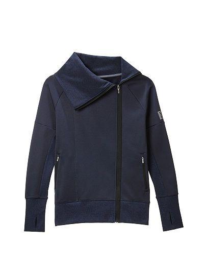 Funnel-neck Moto Jacket Victoria