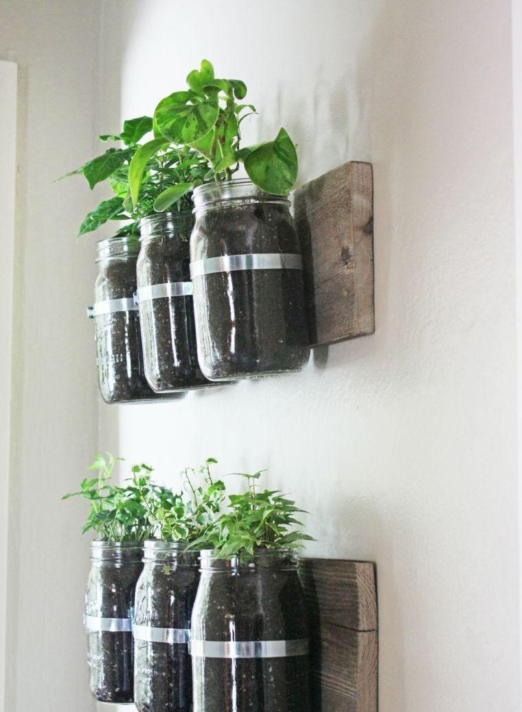 Mur Végétal Extérieur à Faire Soi Même Et Idée De Bricolage Avec Bocaux En  Verre