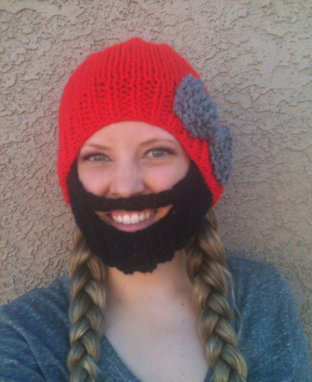 Bearded Beanie Crochet Pattern Free | Moustache Beanie ...