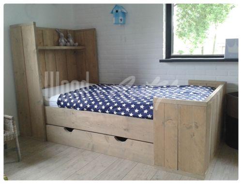 Steigerhout kinderbed cm steigerhout bed voor kinderen