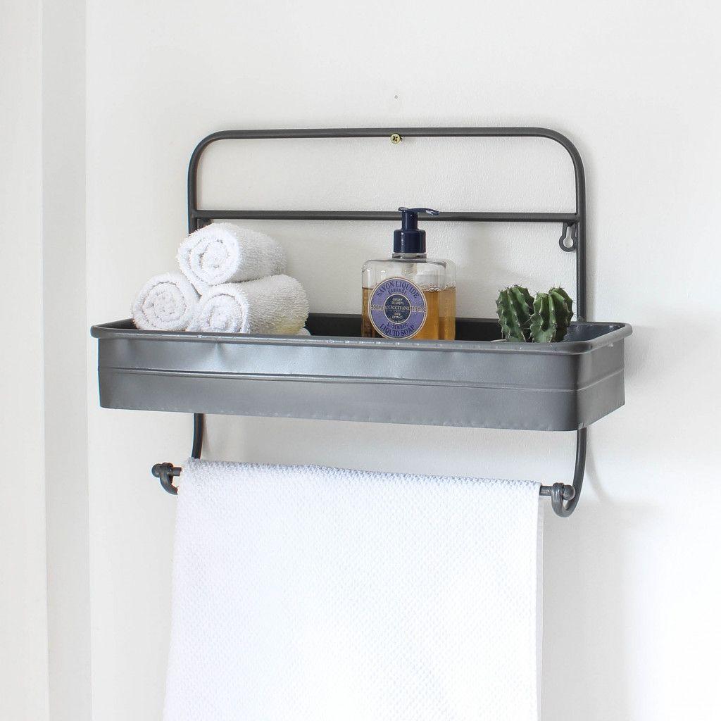 Grey Metal Bathroom Shelf Metal Bathroom Shelf Bathroom