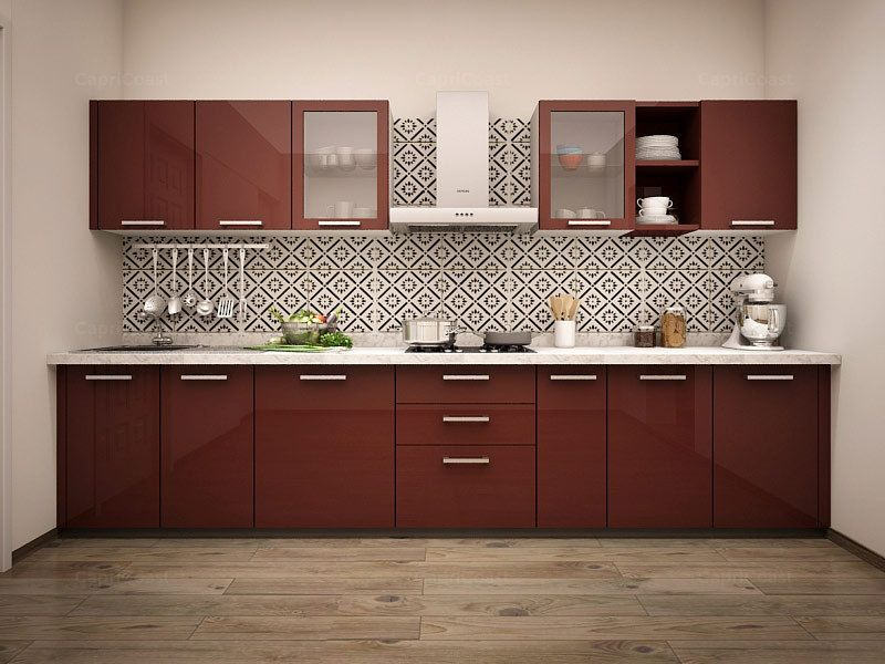 Straight paradiso modular kitchen on capricoast is for Straight kitchen ideas