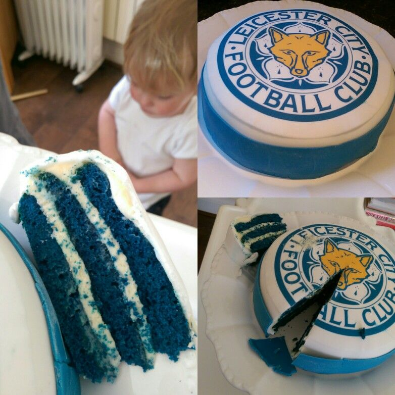 Blue sponge leicester city football club cake Cakes Pinterest