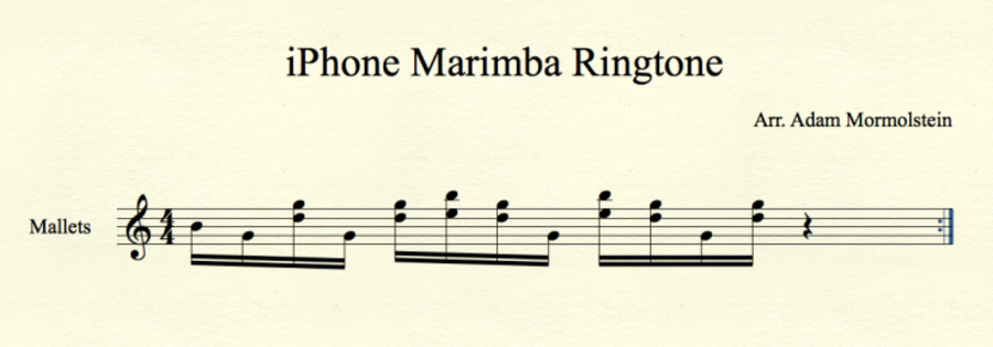 Iphone Marimba Ringtone Ringtone Covers Marimba Band Jokes Violin Sheet Music