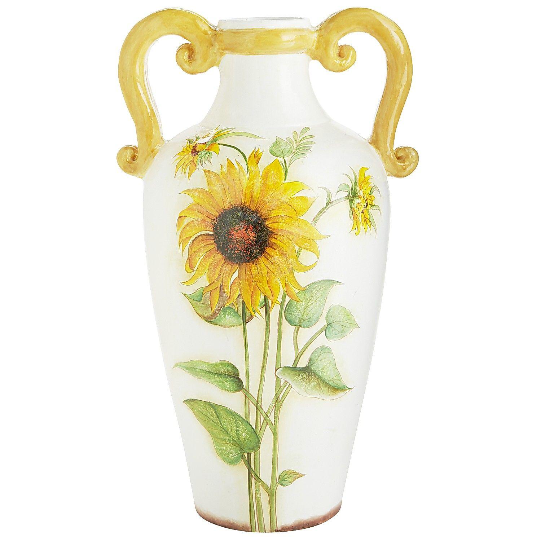 Multi-colored Hand-Painted Terracotta Sunflower Vase | *Decor ...