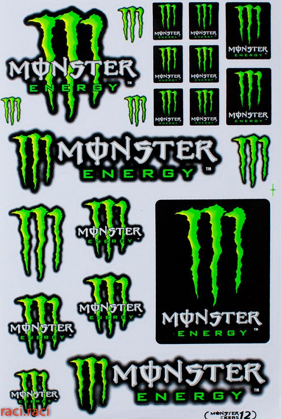 Green Monster Energy Claws Sticker Decal Supercross By