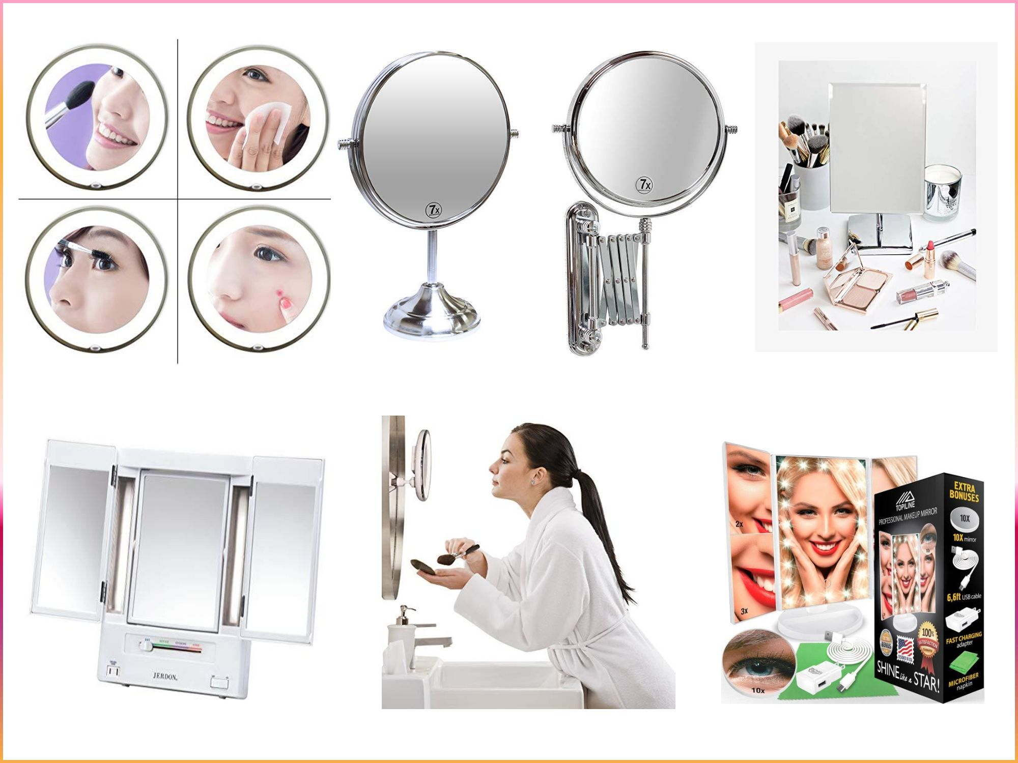 Best Lighted Makeup Mirror Makeup Mirror With Lights Large