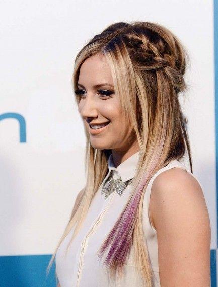 Ashley Tisdale peinados Pinterest Estilos de trenzas, La
