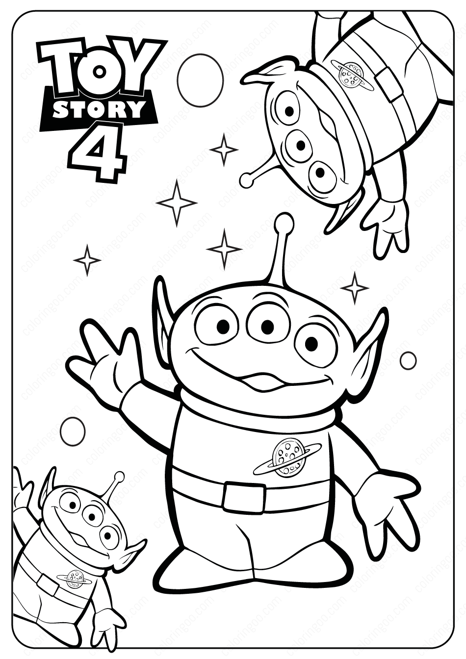Free Printable Toy Story Aliens Pdf Coloring Pages 1 Toy Story Coloring Pages Disney Coloring Pages Toy Story Printables