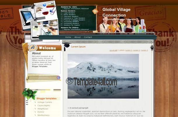 Blogspot Templates - Education Blogger Template Download #blogger ...
