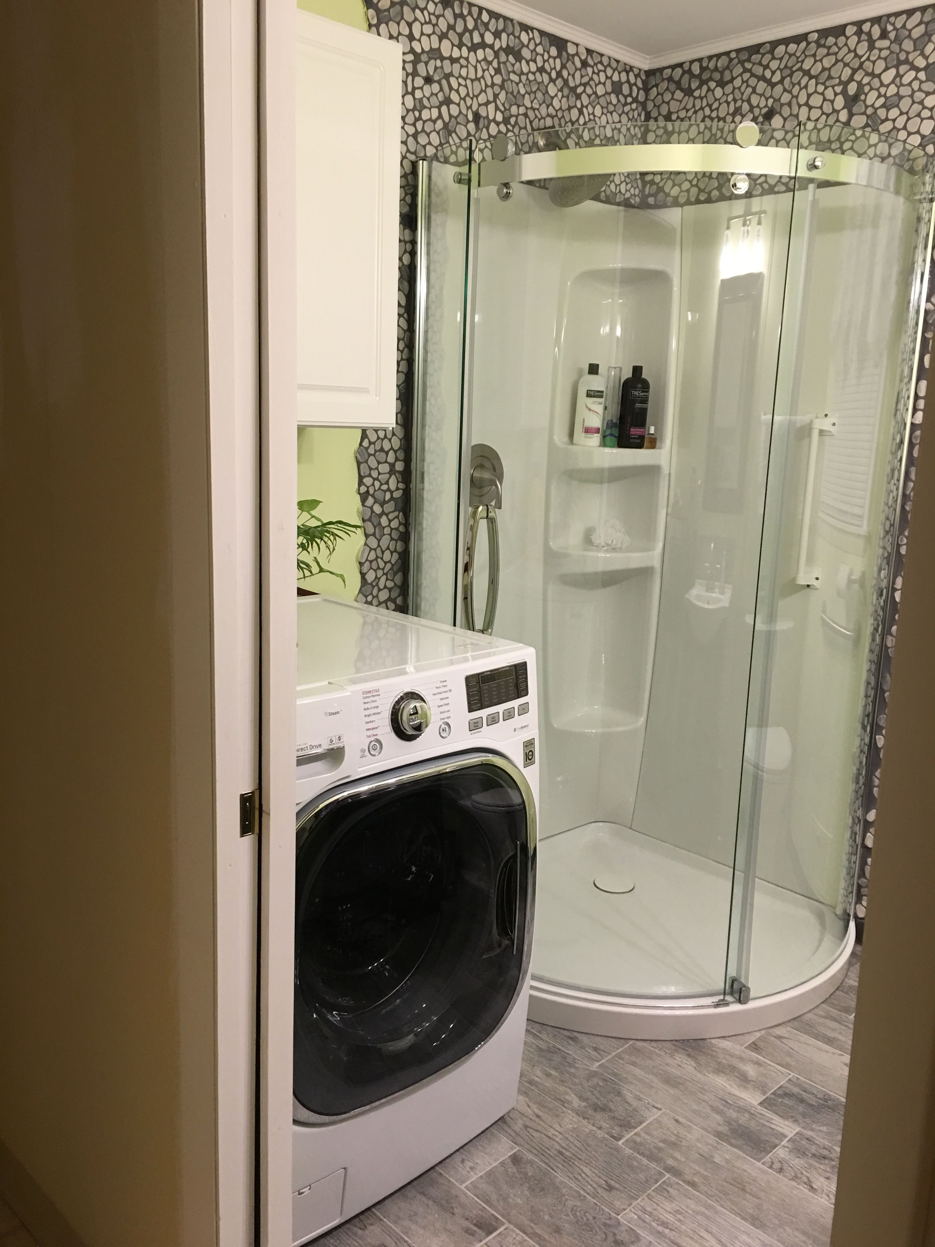 Lg Washer Dryer Combo Unit Is One Of The Greatest Inventions Ever It S Ventless And Only Required A N Build My Own House Lg Washer And Dryer Bathrooms Remodel