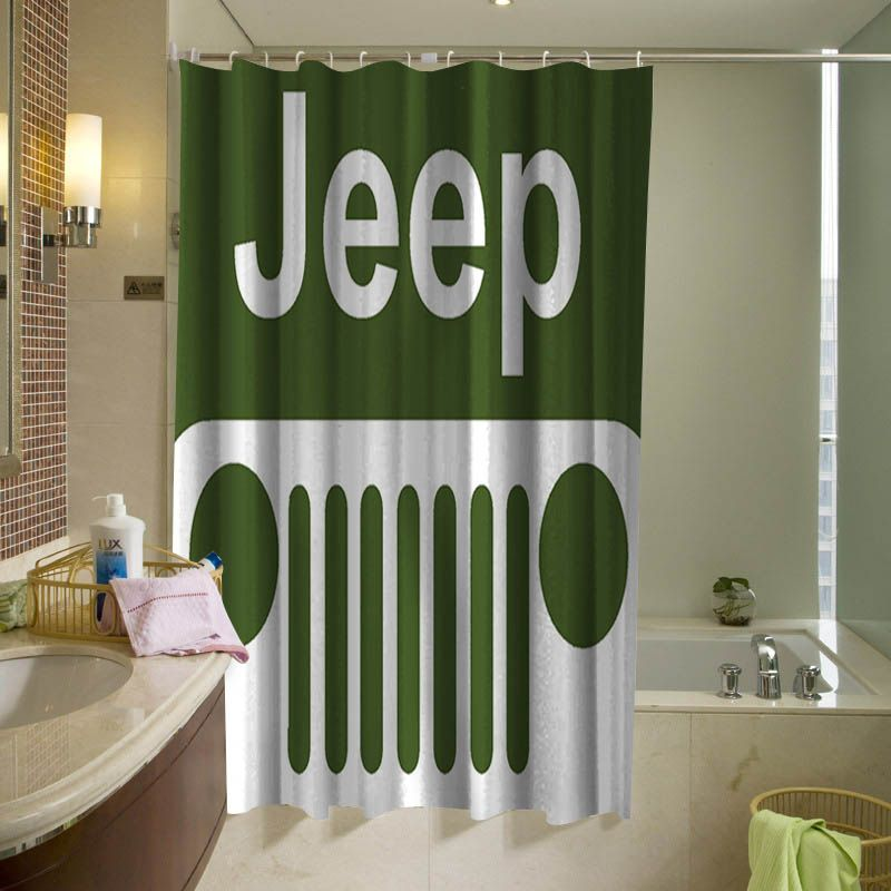 Jeep Off Road Shower Curtain Personalized Shower Curtain Shower