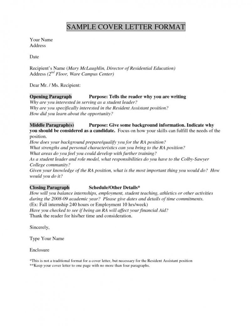 Cover Letter Template No Name CoverLetterTemplate