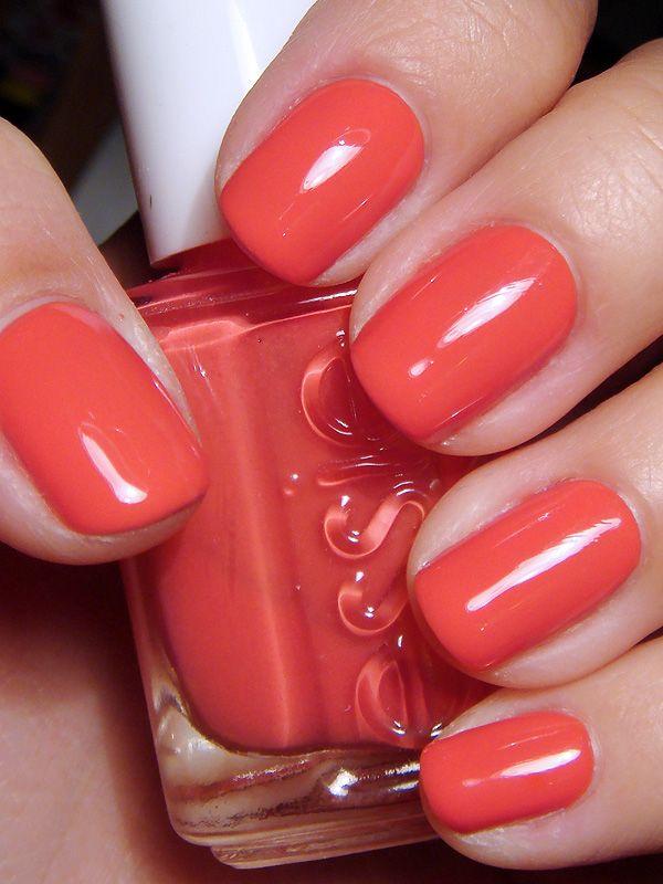 Essie – California Coral | Esmalte, Uñas perfectas y Uña decoradas