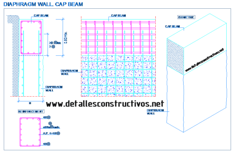 Diaphragm Wall Cap Beam In 2020 Concrete Retaining Walls Retaining Wall Construction Retaining Wall