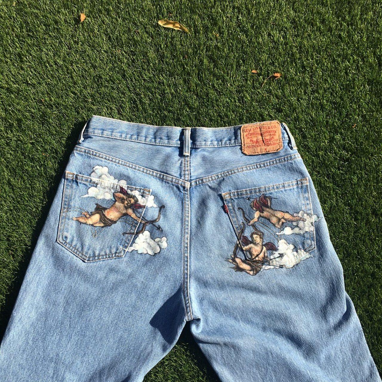 0fcdba697e 'CUPID BOOTY' Vintage LEVIS light wash blue denim jeans. fit - Depop. '