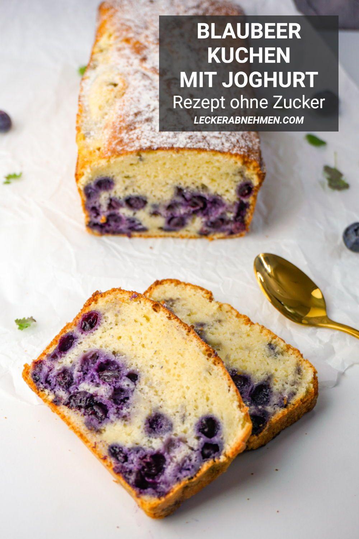 Photo of Blaubeerkuchen mit Joghurt – Gesundes Kuchen Rezept