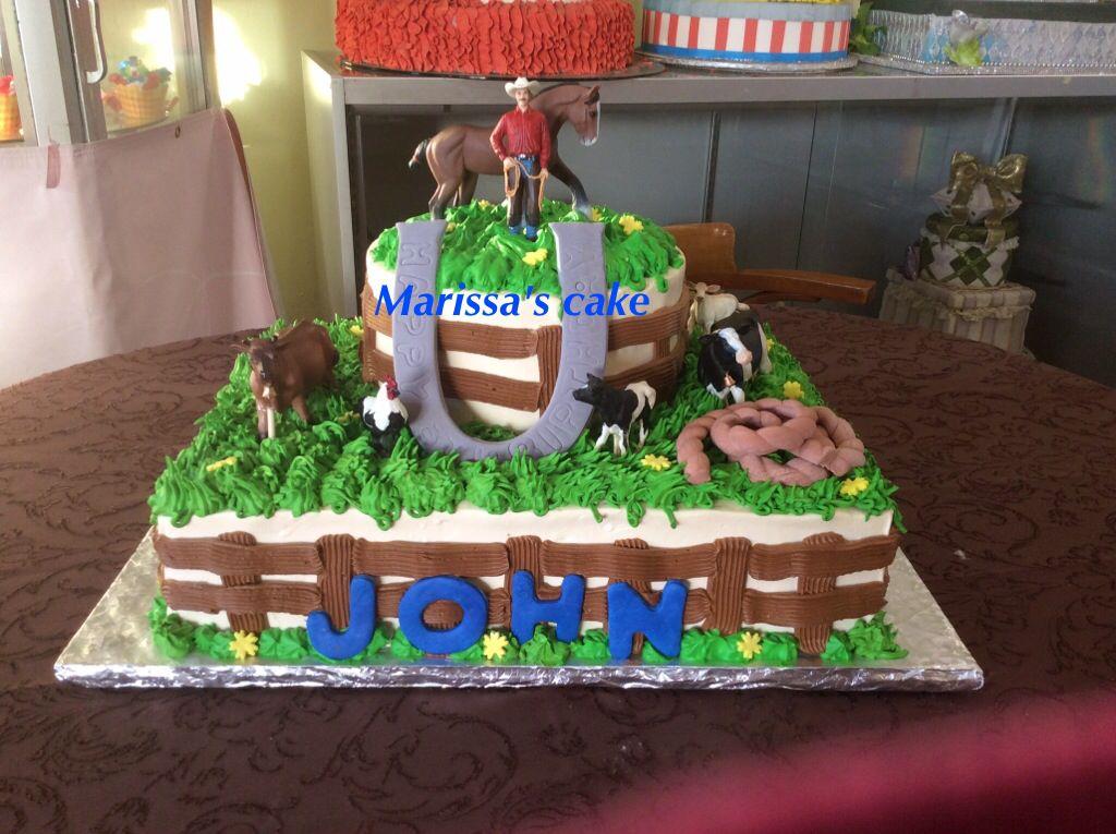 Western birthday cake Visit us Facebookcommarissascake or www