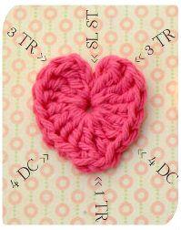 LoveNote Crafts: Easy Crochet Heart Tutorial