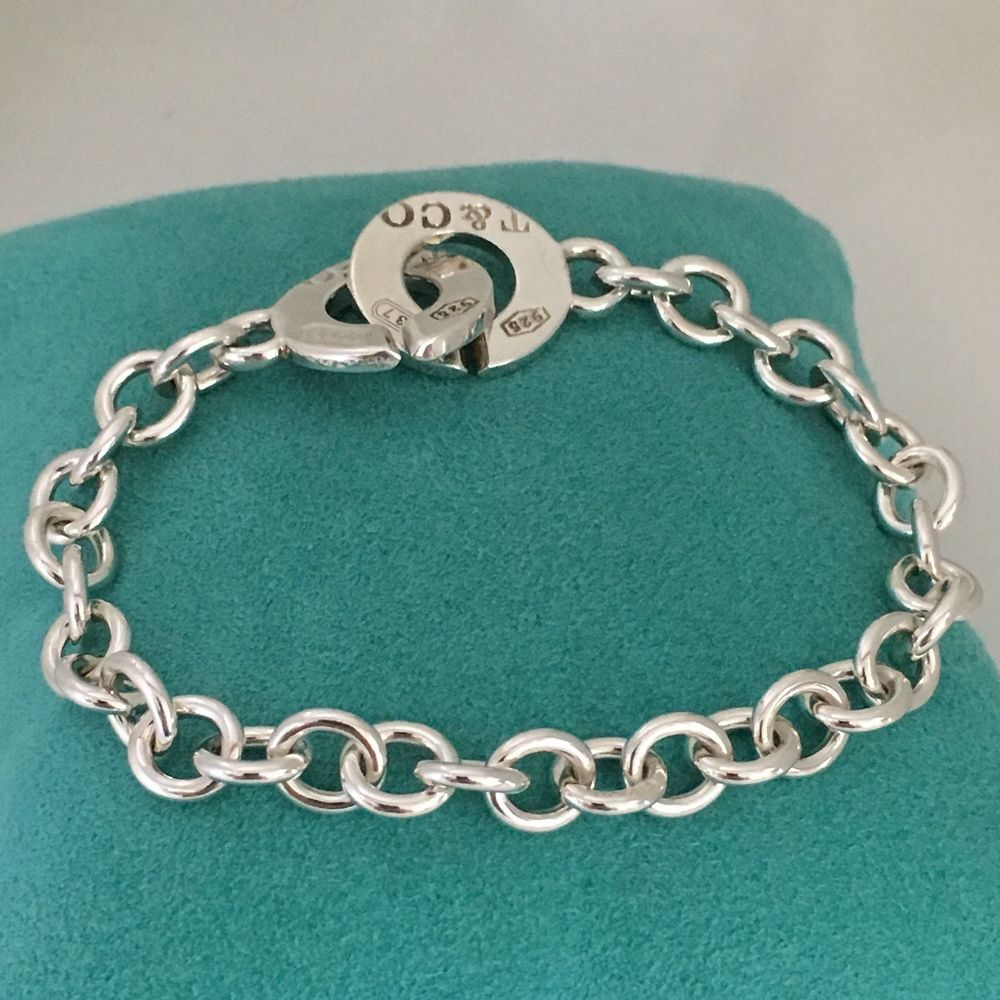 c3842deb510 Tiffany   Co Sterling Silver 1837 T CO Circle Clasp Toggle Bracelet (eBay  Link)