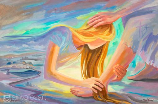 Lady at the feet of Jesus, prophetic art. Repentance and Mercy ...