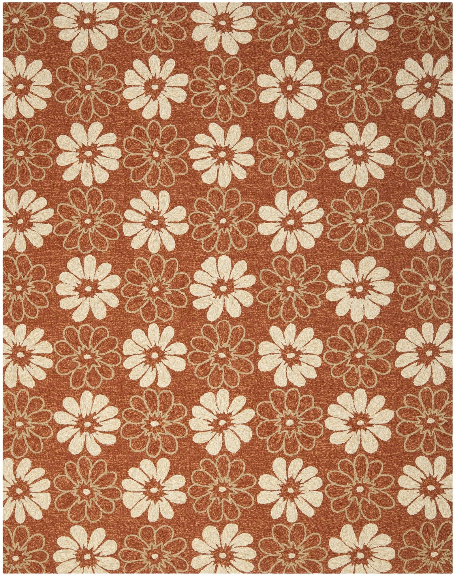 Stacy Rust/Ivory Outdoor Area Rug