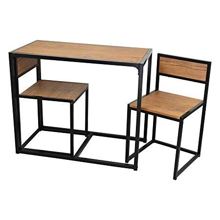 Amazon De Harbour Housewares Platzsparender Und Kompakter Kuchen Esstisch Und Stuhle Set Fur 2 Kleiner Tisch Und Stuhle Esstisch Stuhle Tisch