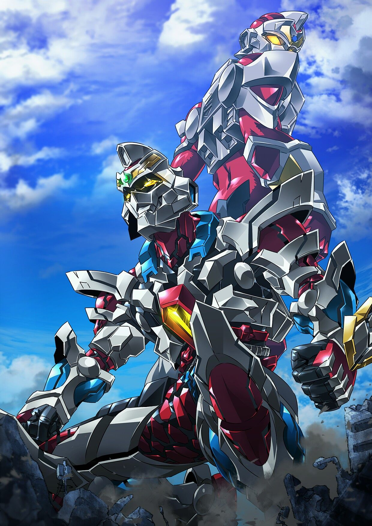 gridman Japanese superheroes, Kaiju art, Anime