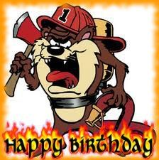 Firefighters Birthday Greeting Cards