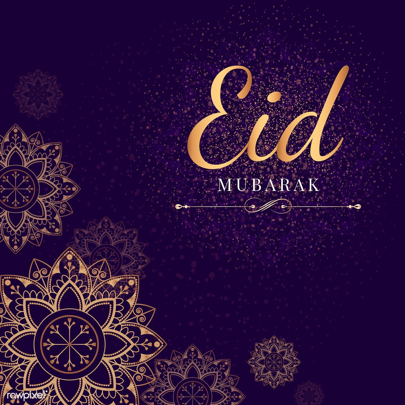 Download Premium Vector Of Eid Mubarak Card With Mandala Pattern