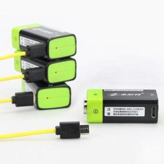 2pcs ZNTER S19 9V 400mAh USB Rechargeable 9V Lipo Battery