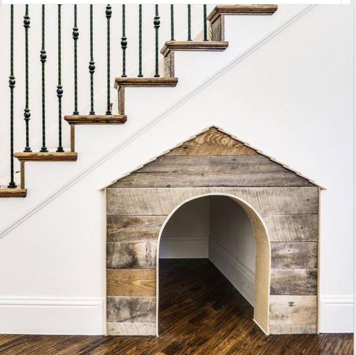 Adorable Dog House Under The Stairs.