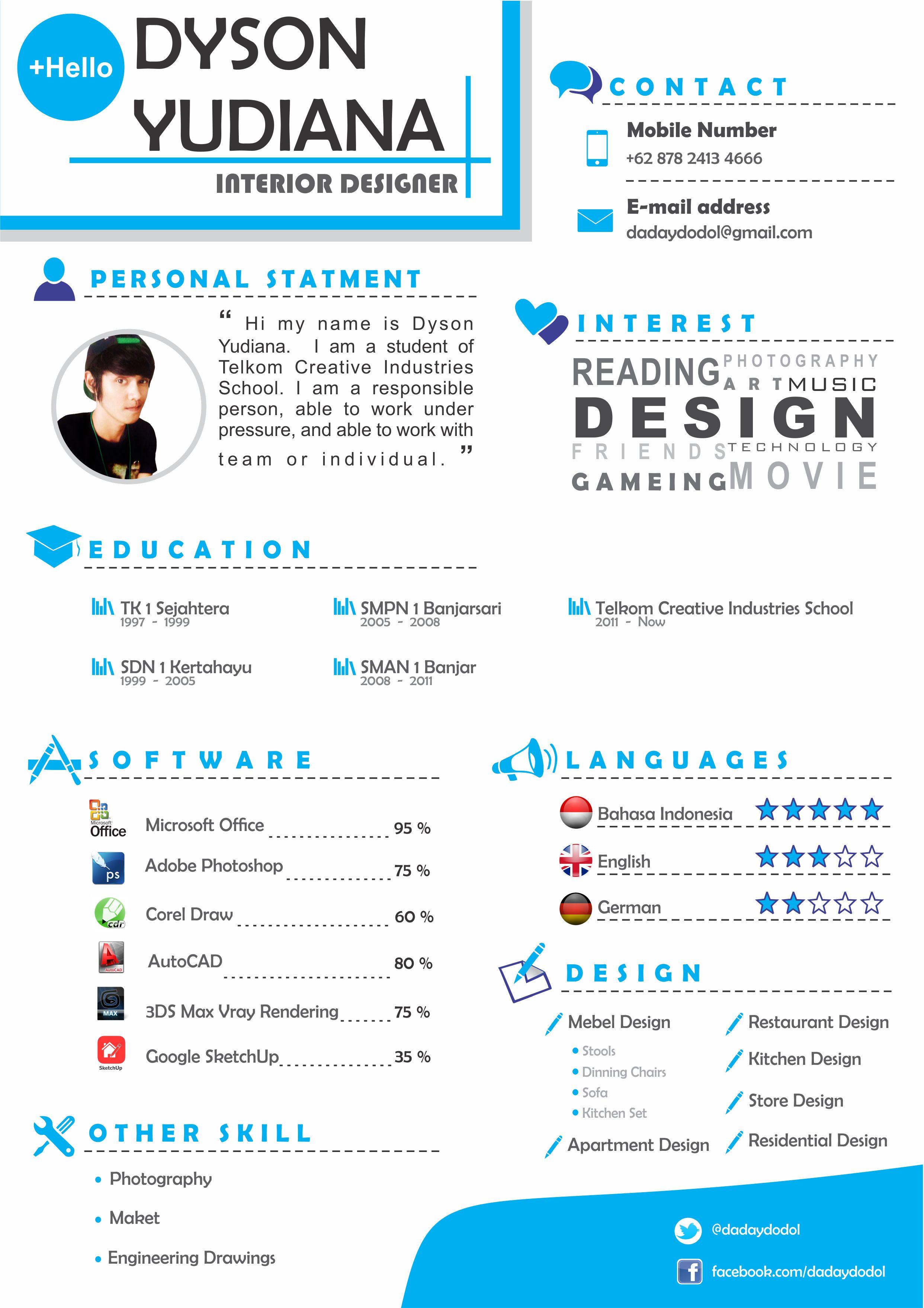 CV interior design Portfolio/Leave Behind Examples