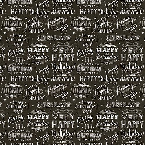 Printable Birthday Wrapping Paper Free ~ Chalkboard gift wrap paper source design pattern color pinterest