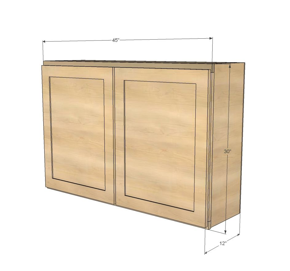 Best Ana White Build A 45 Wall Kitchen Cabinet Free And 400 x 300