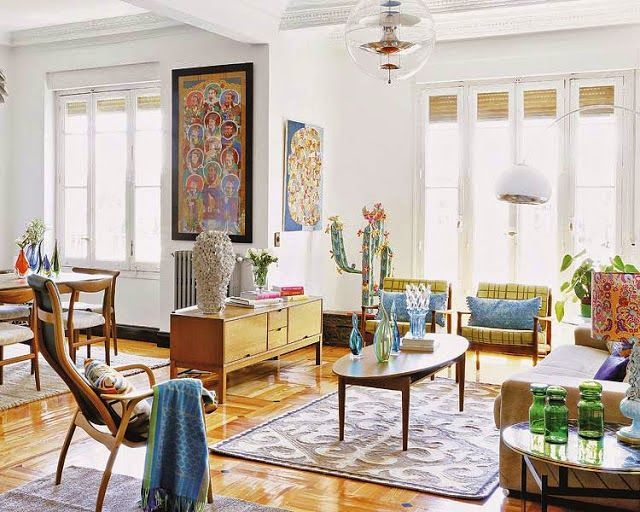 Sala retrô com alguns móveis vintage - anos 50!