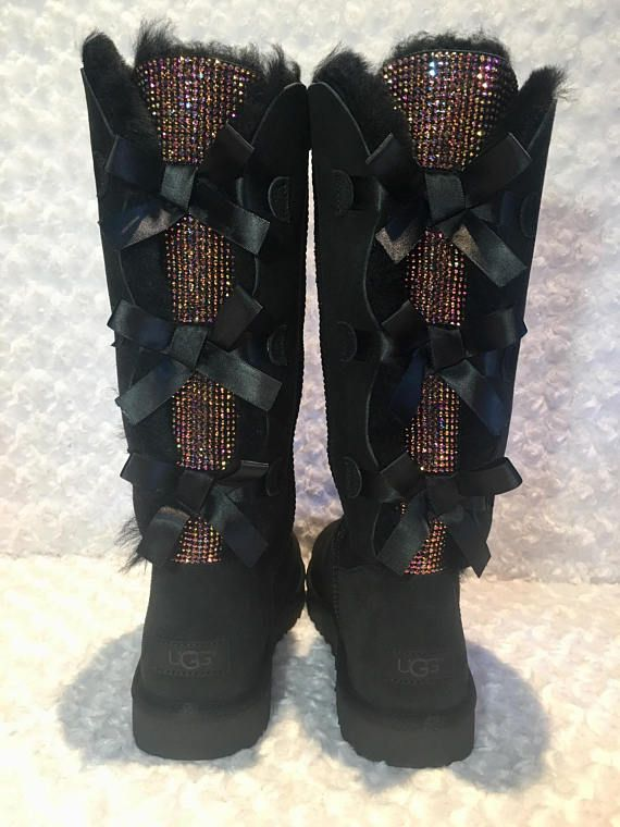 e5cbcab6d65 Bling UGG boots- custom UGG boots- bailey bow uggs- bling uggs ...