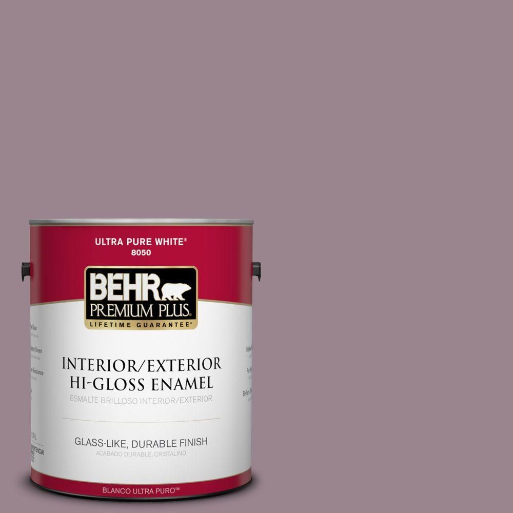 behr premium plus home decorators collection 1 gal hdc cl 05 orchard plum hi gloss enamel interiorexterior paint - Behr Home Decorators Collection
