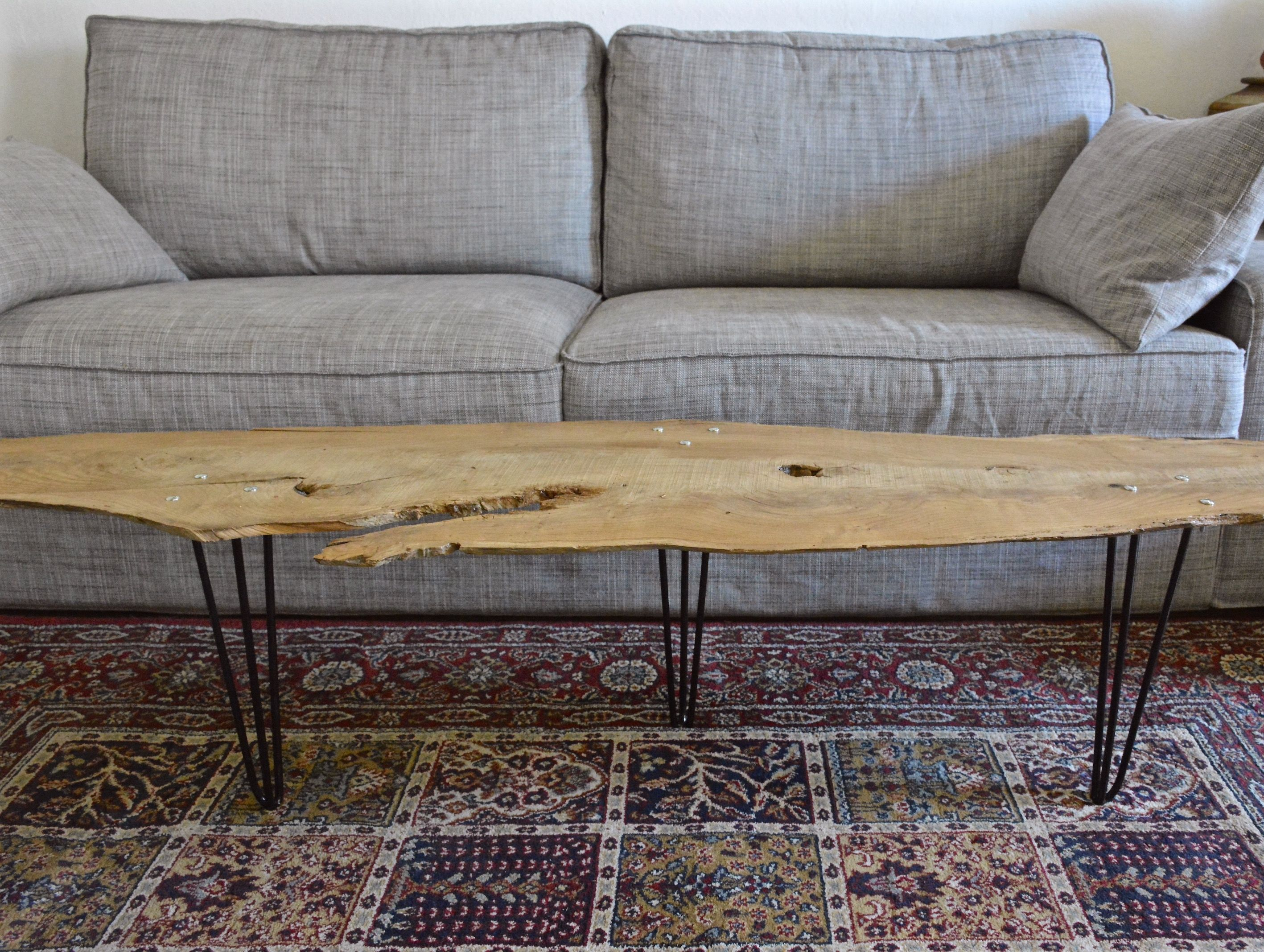Table basse planche tronc d 39 arbre par le meuble du for Le meuble du photographe