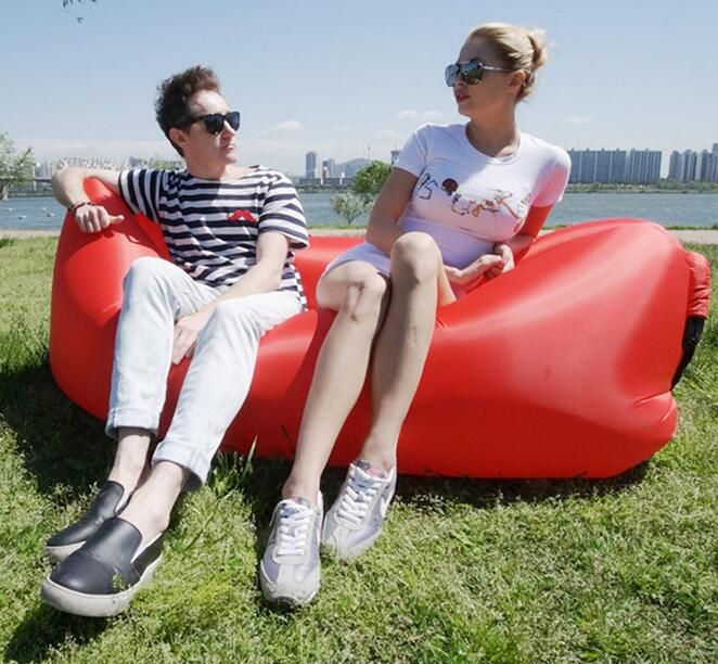 Pleasant Two Seat Durable Bean Bag Chair Air Inflatable Beanbag Sofa Machost Co Dining Chair Design Ideas Machostcouk