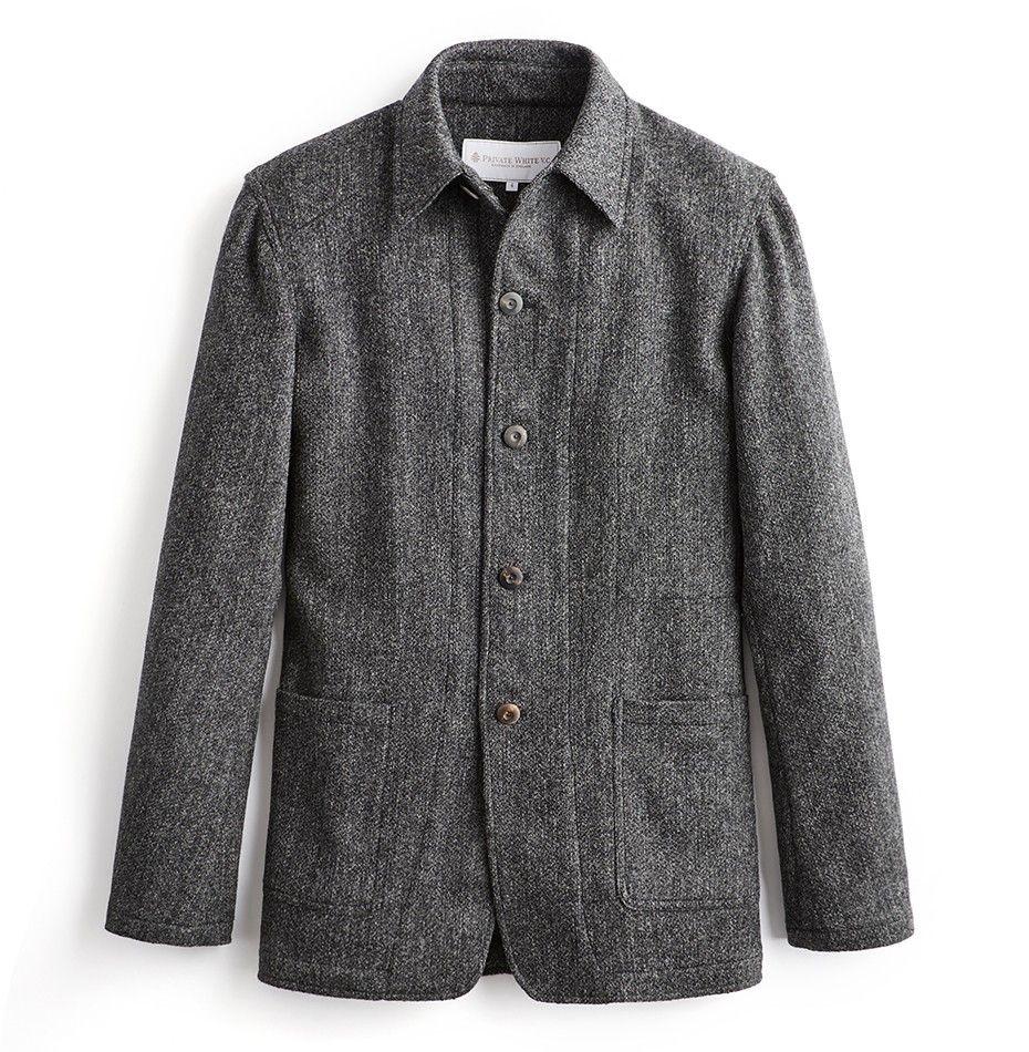 Woollen Shacket - Charcoal