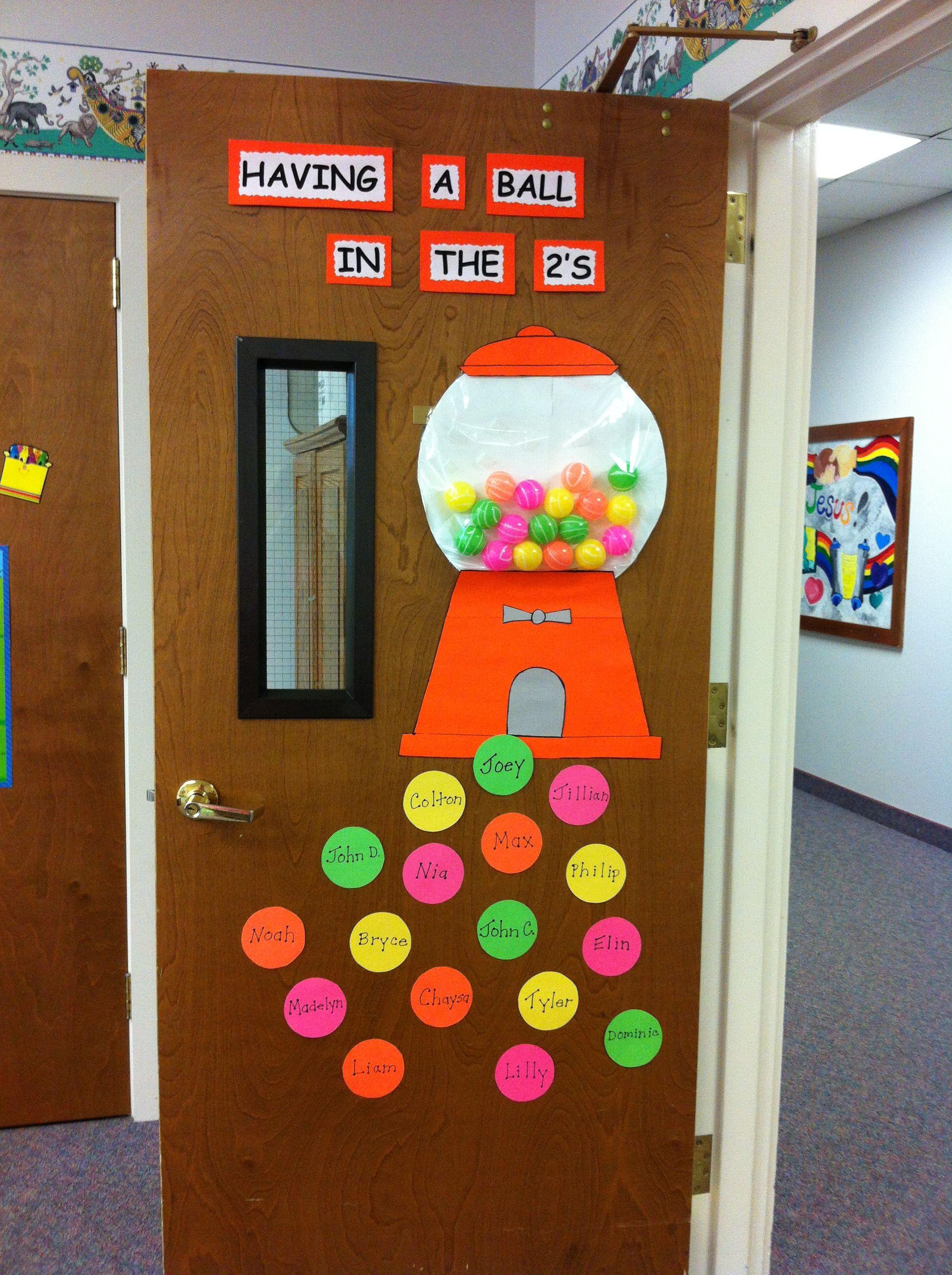 Gumball Door Classroom Door Displays Classroom Decor Classroom