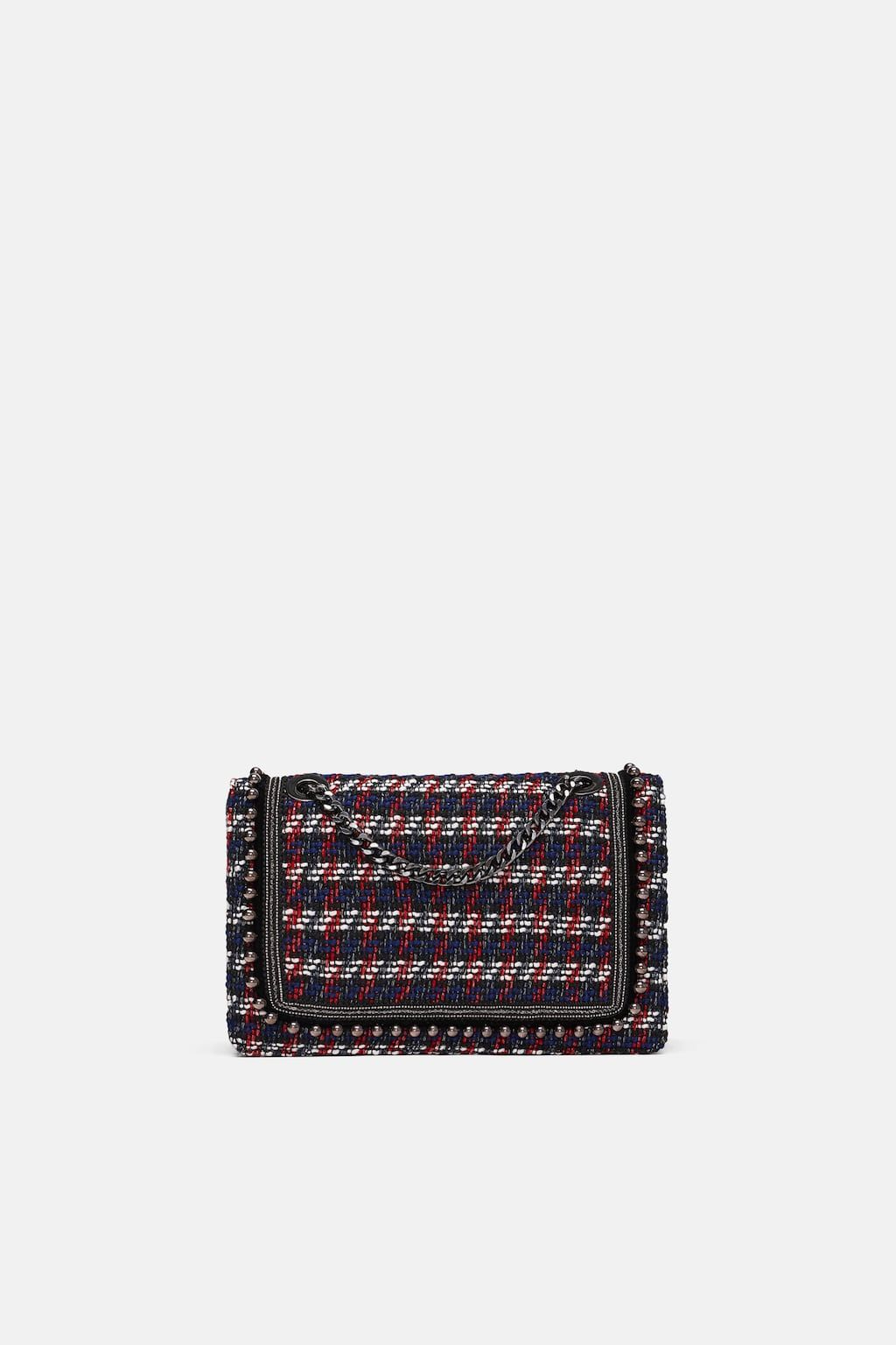 7734048285 Image 2 of FABRIC CROSSBODY CLUTCH from Zara Fabric Crossbody Bags