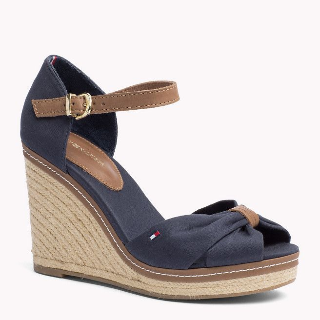 Conception innovante bien bien connu Tommy Hilfiger Mixed Wedge Sandal - midnight (Blue) - Tommy ...