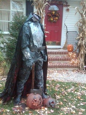spooky halloween sleepy hollow decorations - Scary Halloween Yard Decorating Ideas