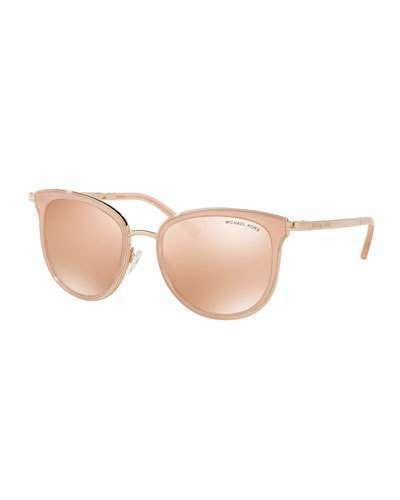 5fb6c8935ccb Michael Kors Mirrored Square Sunglasses, Rose Gold | Get the Look in ...
